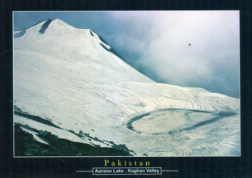 Pakistan Beautiful Postcard Ansoo Lake