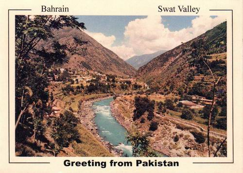 Pakistan Beautiful Postcard Bahrain Swat Valley