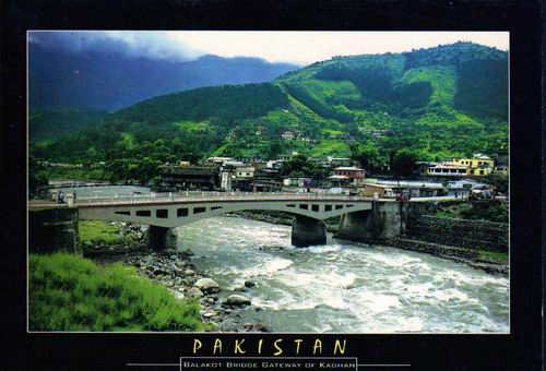 Pakistan Beautiful Postcard Balakot Bridge