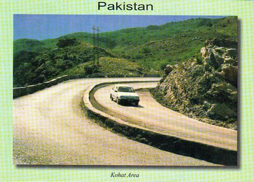 Pakistan Beautiful Postcard Kohat Area