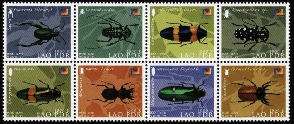 Laos 2002 Stamps Insects MNH