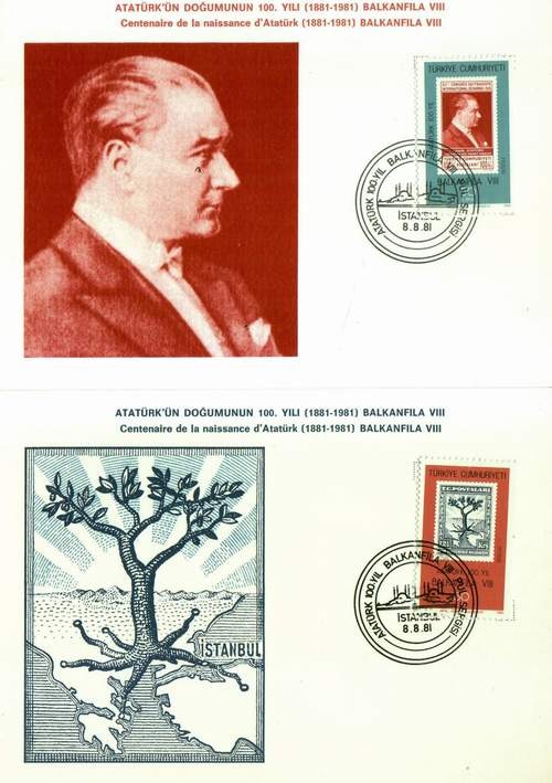 Turkey Maxi Cards Birth Centy Kemal Ataturk