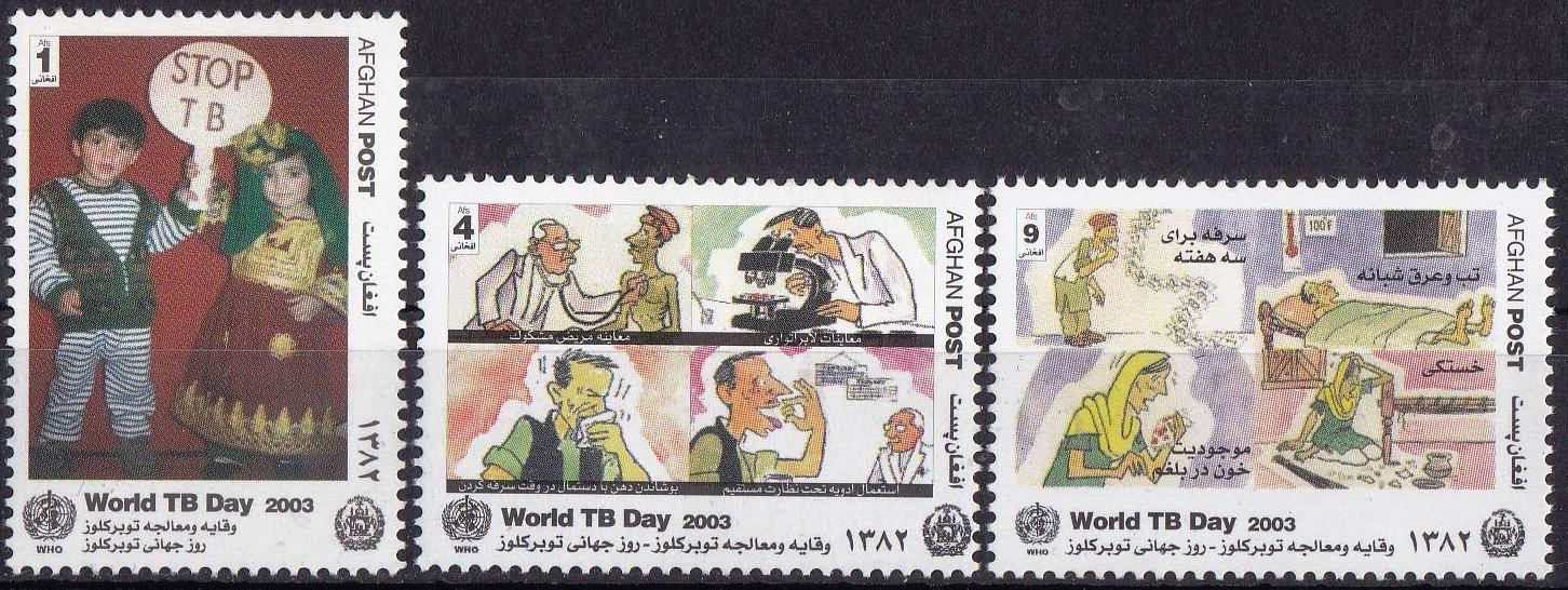 Afghanistan 2003 Stamps World TB Day