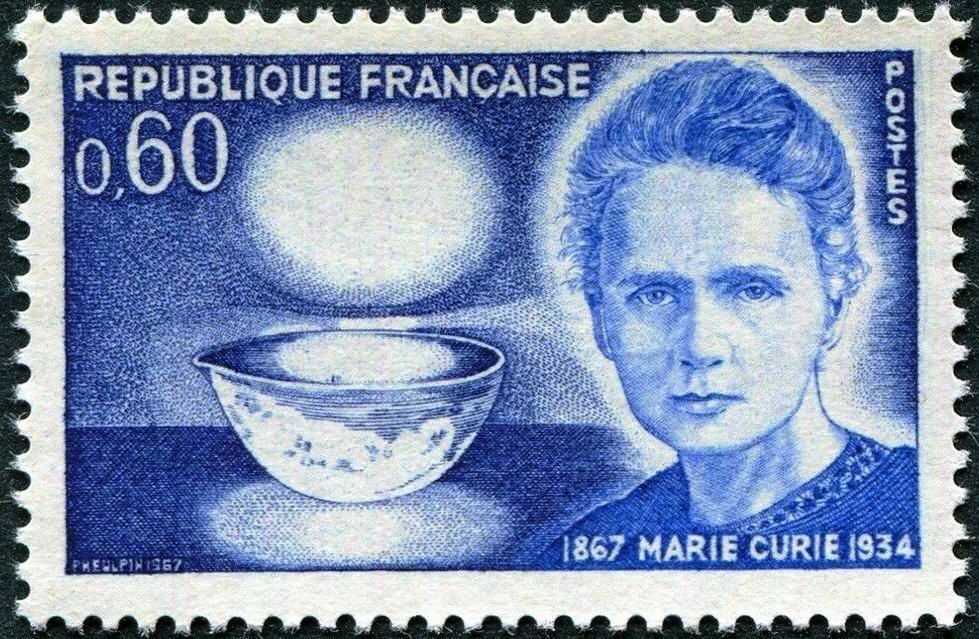 France 1967 Stamp Marie Curie Nobel Prize Winner MNH