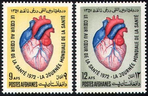 Afghanistan 1970 Stamps World Health Day Heart