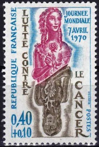 France 1970 Stamps Fight Against Cancer MNH
