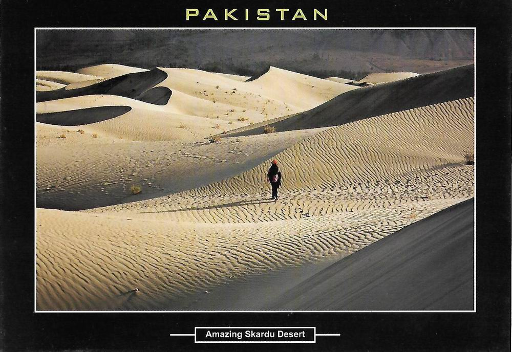 Pakistan Beautiful Postcard Amazing Skardu Desert