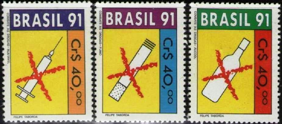 Brazil 1991 Stamp Fight Against Alcohol Tobacco Drugs MNH
