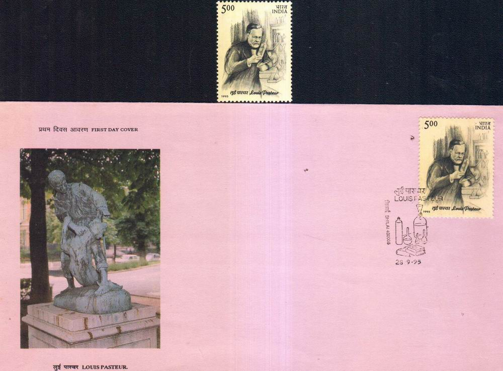 India Fdc 1981 & Stamp Louis Pastuer Medicine Rabbies