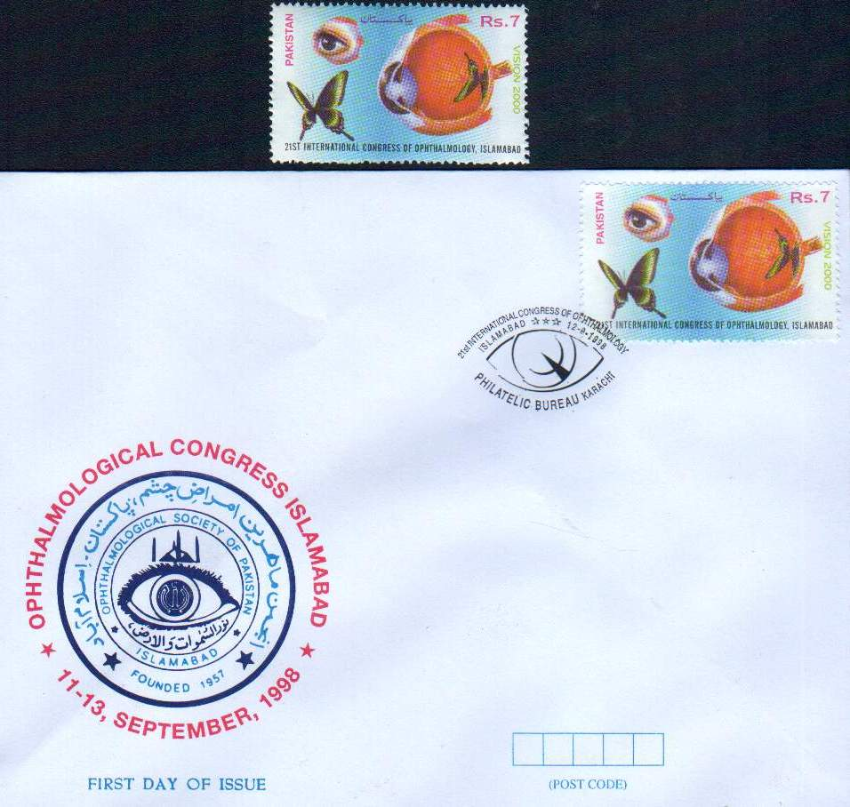 Pakistan Fdc 1998 & Stamp Congress Of Ophthalmology