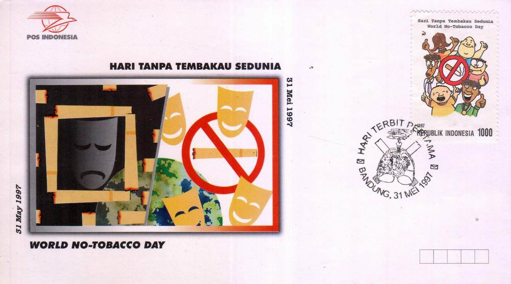 Indonesia Fdc 1997 Stop Smoking World No Tobacco Day