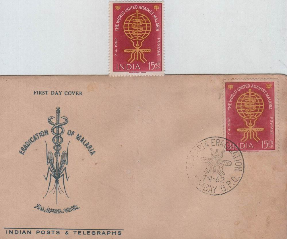 India Fdc 1962 & Stamp Fight Against Malaria
