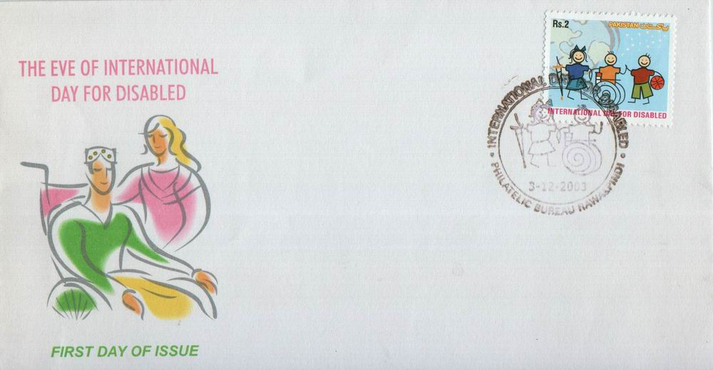 Pakistan Fdc 2003 & Stamp International Year Of Disabled