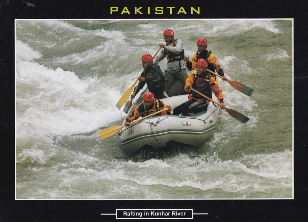 Pakistan Beautiful Postcard Rafting In Kunhar River
