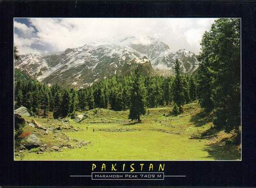 Pakistan Beautiful Postcard Haramosh Peaks