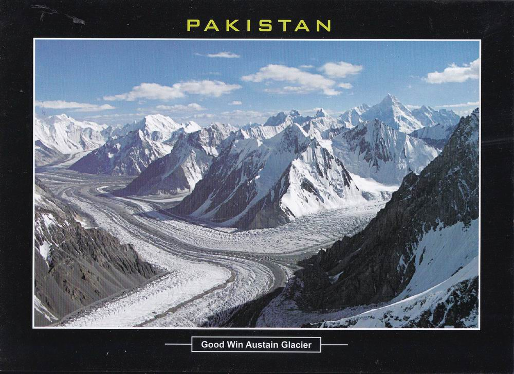 Pakistan Beautiful Postcard Goodwin Austain Glacier