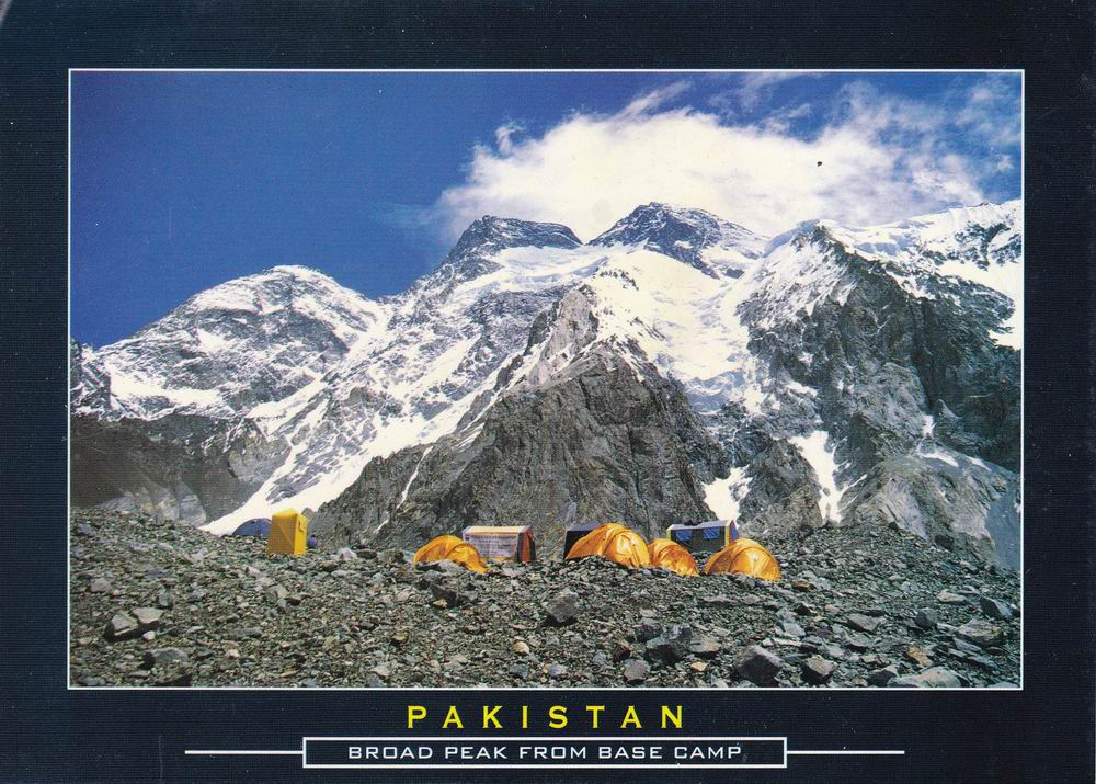 Pakistan Beautiful Postcard Campsite Broad Peak