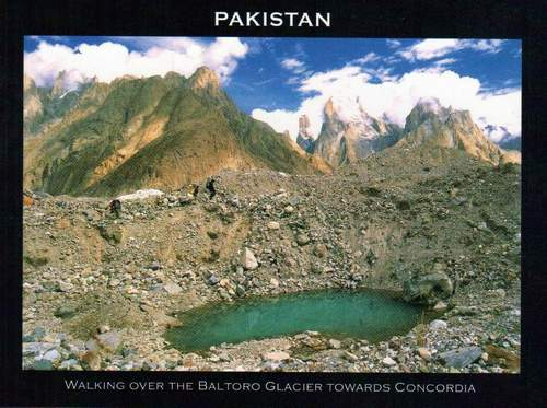 Pakistan Beautiful Postcard Trekking In Baltoro Glacier
