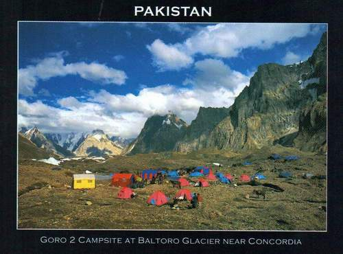 Pakistan Beautiful Postcard Campsite At Baltoro Glacier