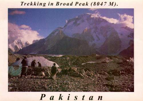 Pakistan Beautiful Postcard Trekking In Broad Peak