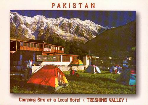Pakistan Beautiful Postcard Camping Site At Local Hotel