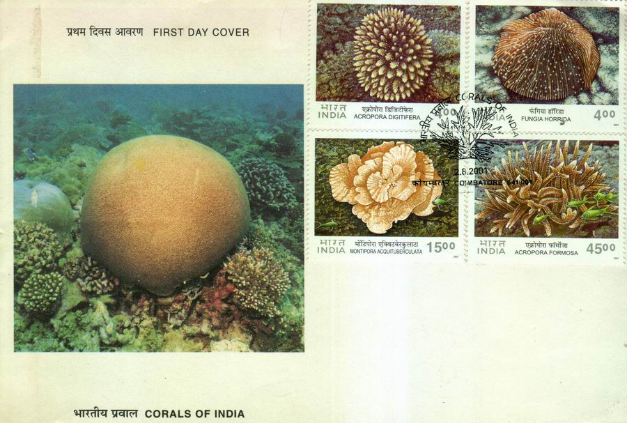 India 2001 Fdc Corals Of India