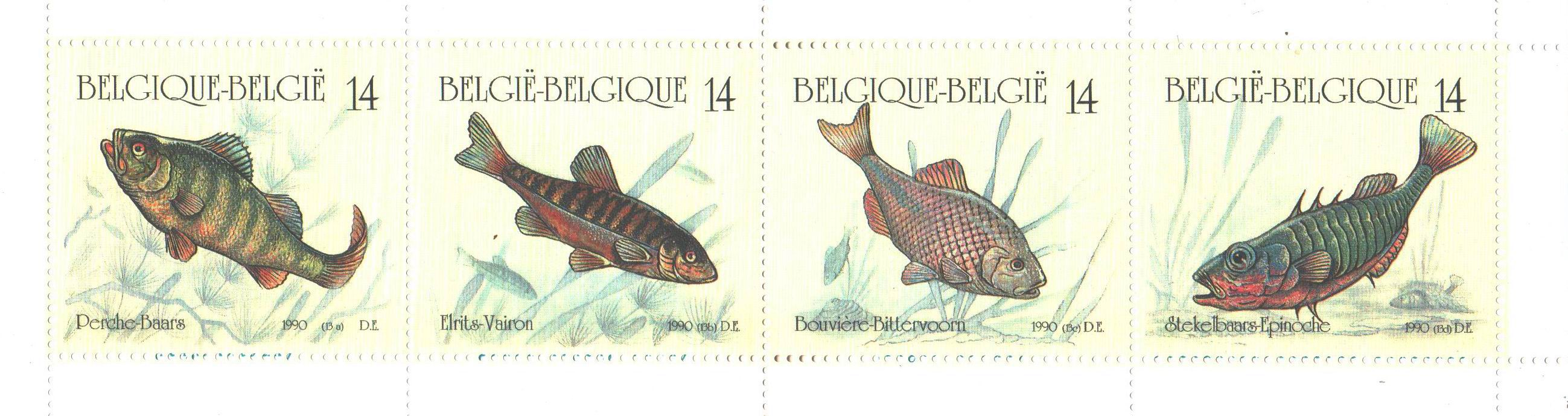Belgium 1990 Stamps Booklet With 4 Fishes Stamps MNH
