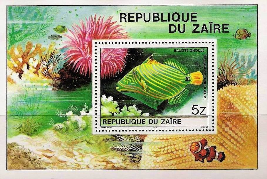 Zaire 1978 S/Sheet Fish MNH