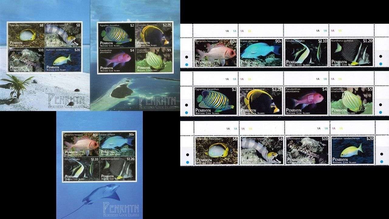 Penrhyn 2012 S/Sheet & Stamps Marine Life Fishes