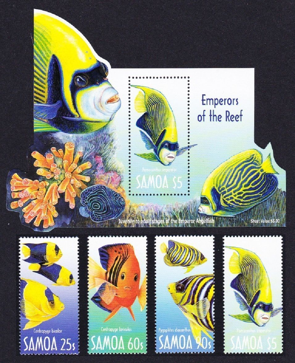 Samoa 1993 S/Sheet & Stamps Emperors Of The Reef Fishes MNH