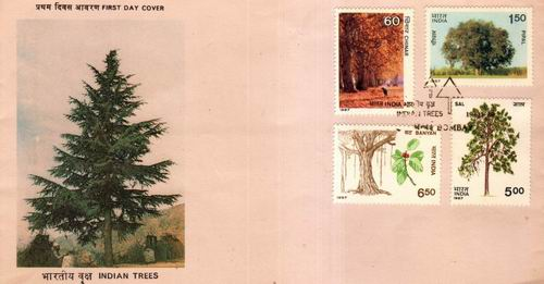 India 1987 Fdc Indian Trees