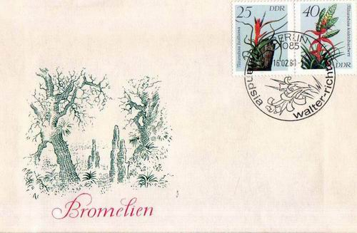 Germany 1983 Fdc Wild Plants
