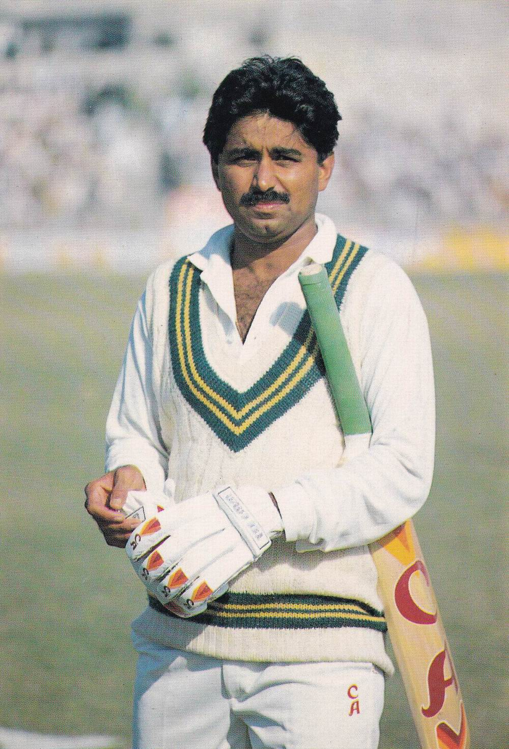 Pakistan Beautiful Postcard Cricket Legend Javed Miandad