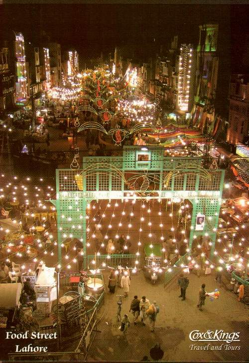 Pakistan Beautiful Postcard Food Street Lahore