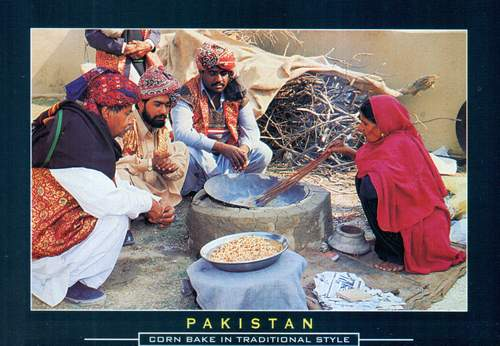 Pakistan Beautiful Postcard Corn Bake In Traditional Style