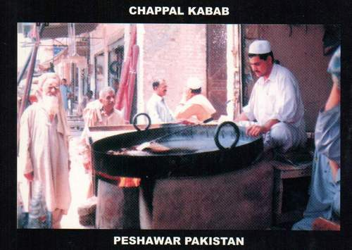 Pakistan Beautiful Postcard Chappal Kabab