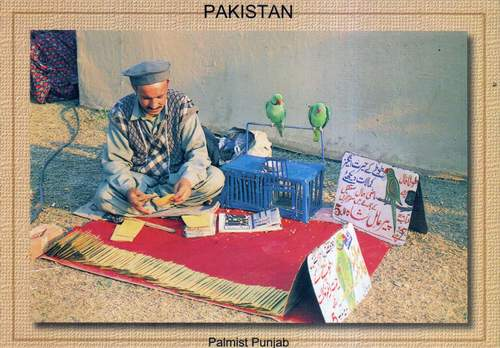 Pakistan Beautiful Postcard Fortune Seller Palmist Punjab