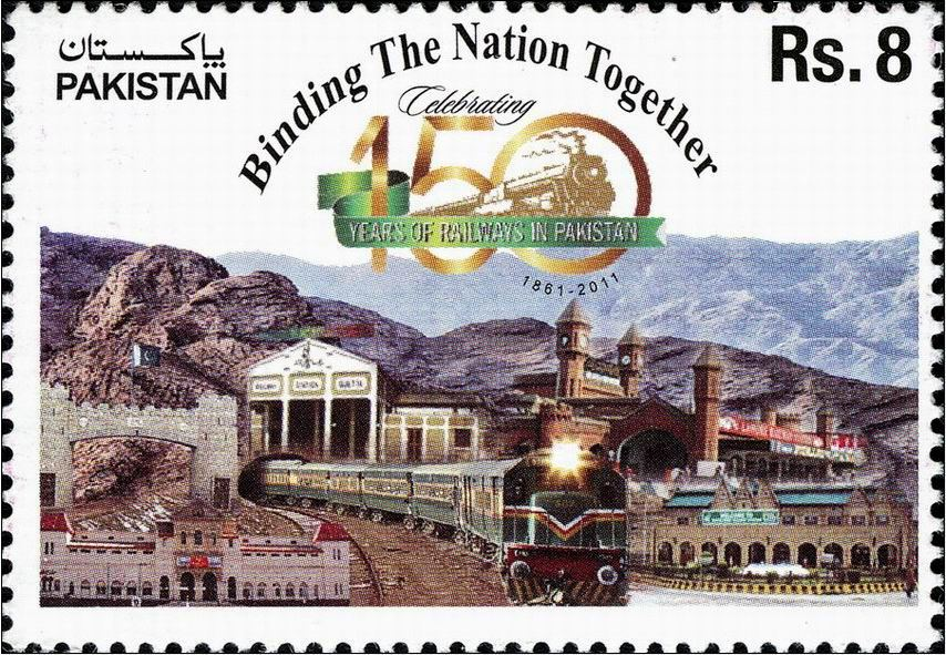 Pakistan Stamps 2011 150th Anniversary of Pakistan Railway Train