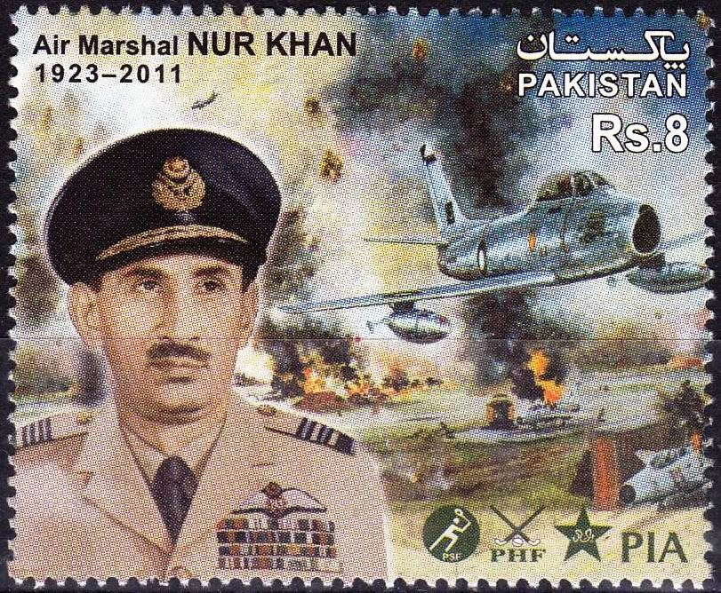 Pakistan Stamps 2012 Air Marshall Nur Khan Fighter Aircraft F 86