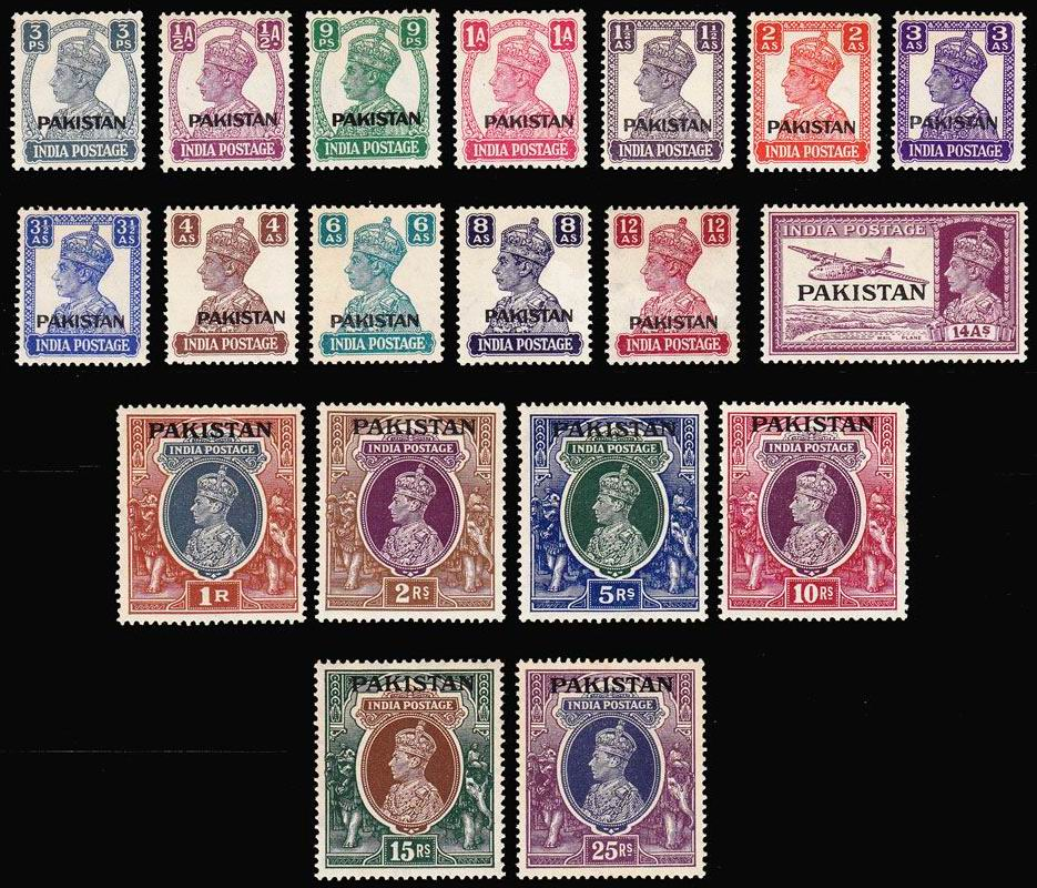Pakistan 1947 Indian Stamps King George VI MNH