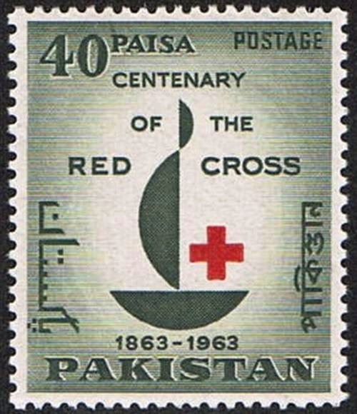 Pakistan Stamps 1963 Centenary of Red Cross