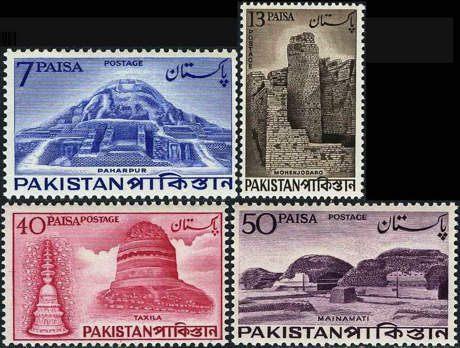 Pakistan Stamps 1963 Archaeological Series Moenjodaro Buddha