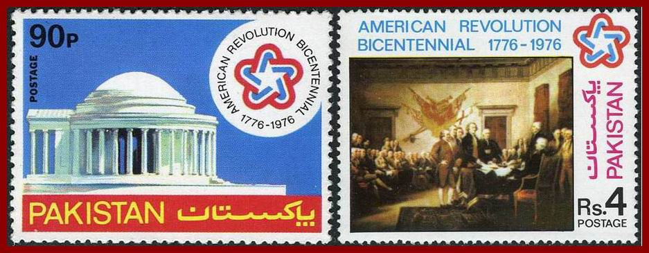 Pakistan Stamps 1976 Bicentenary of American Revolution