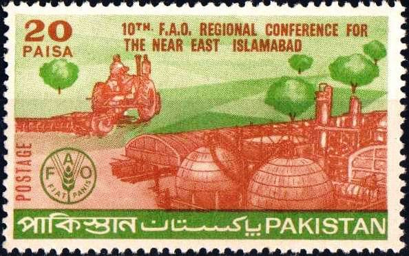 Pakistan Stamps 1970 10th F.A.O. Regional Conference