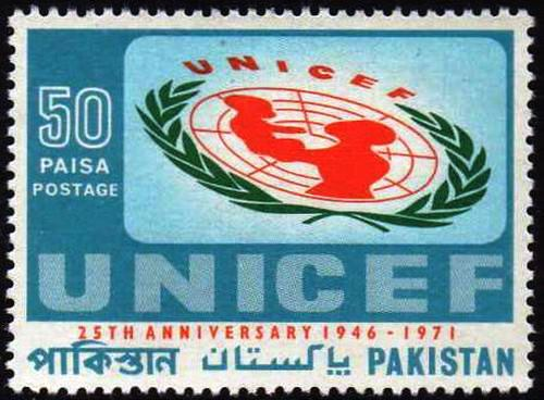 Pakistan Stamps 1971 25th Anny Unicef