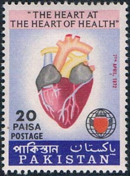 Pakistan Stamps 1972 World Health Day