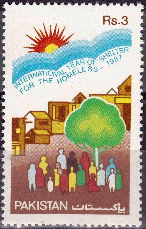 Pakistan Stamps 1987 International Year of Shelter