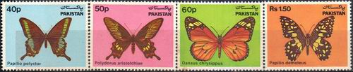 Pakistan Stamps 1983 Wildlife Series Butterflies