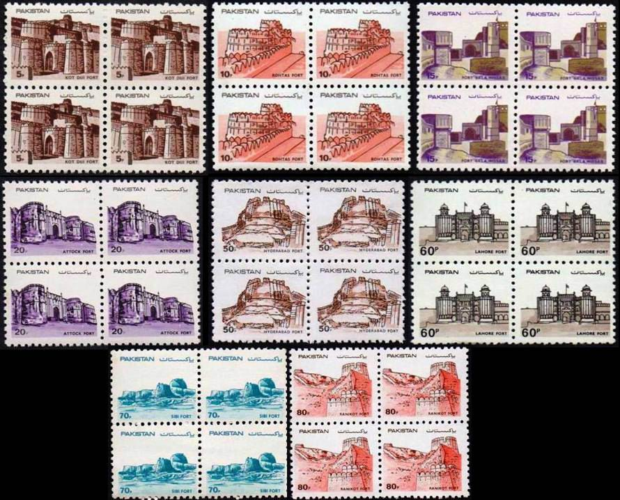 Pakistan Stamps 1984 Forts of Pakistan Rohtas Fort Unesco