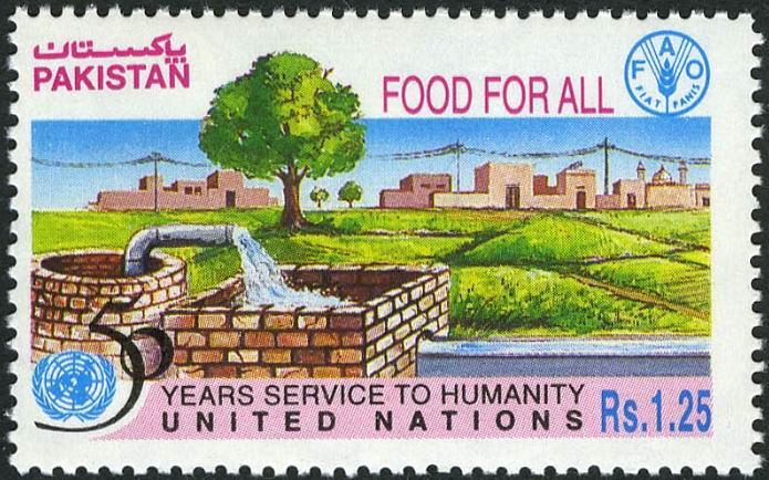Pakistan Stamps 1995 UN Food For All FAO